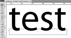 Tekst is niet omgezet naar outlines